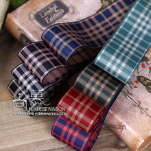 100yards 25/40mm gingham tartan plaid check ribbon for hair bow head band accessories bouquet flower packing decoration bow