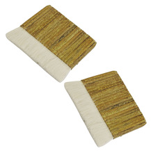 """Полезная """" Широкая прямоугольная хаки бамбуковая ручка белая искусственная шерсть кисть для рисования"""