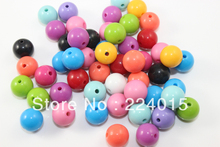 Free shipping !200pcs/8mm Random Mixed Color Acrylic Brightly Chunky Gumball Solid Round Bead For Jewelry Necklace Making