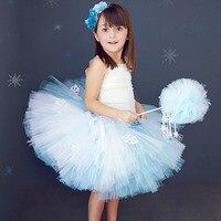 Girl Winter Snow Flake Puffy Tutu Skirt Knee Length Princess Birthday Party Tulle Tutu Skirts For