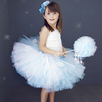 Girl Winter Snow Flake Puffy Tutu Skirt Knee Length Princess Birthday Party Tulle Tutu Skirts For