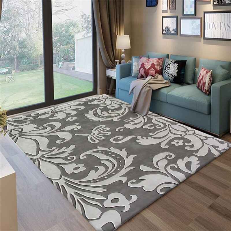 Nordic style Gray Series Abstract Flower Art Carpets For Living Room Bedroom Area Rugs Antiskid Floor Mats Fashion Home Carpet