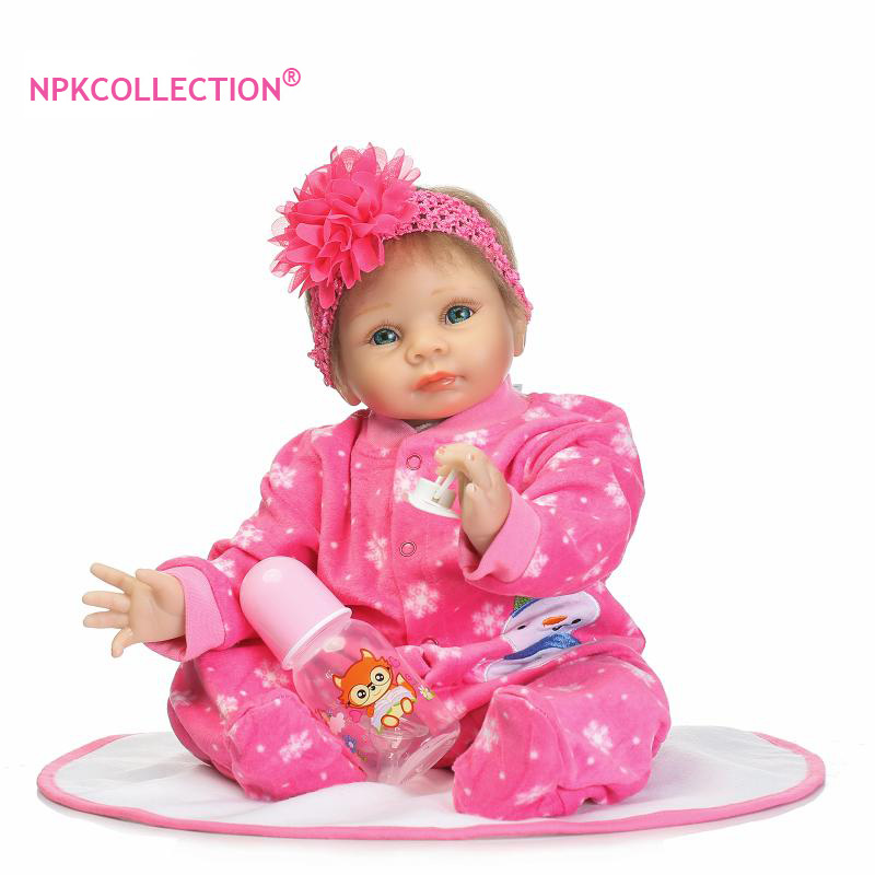 22'' Bebe Girl Reborn Bonecas NPKCOLLECTION Lifelike Reborn Baby Doll Cloth Body Soft Newborn Sleeping Dolls for Children Gifts pretty alice girl doll reborn 40cm soft cloth body silicone newborn dolls best children gift dolls bebe bonecas menina