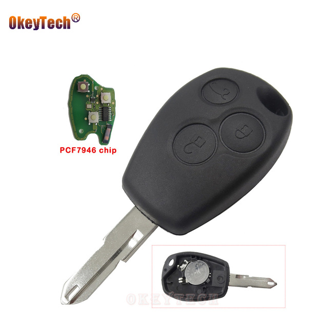US $9 98 26% OFF|Aliexpress com : Buy OkeyTech 3 Buttons Remote Car Key Fob  Replacement Shell for Renault Vivaro Kangoo II Clio III 433MHz Transponder
