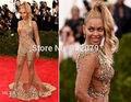 Ph15756 beyonce vestidos transparente piedras preciosas vestidos del club 2015 Met Gala vestidos de beyonce