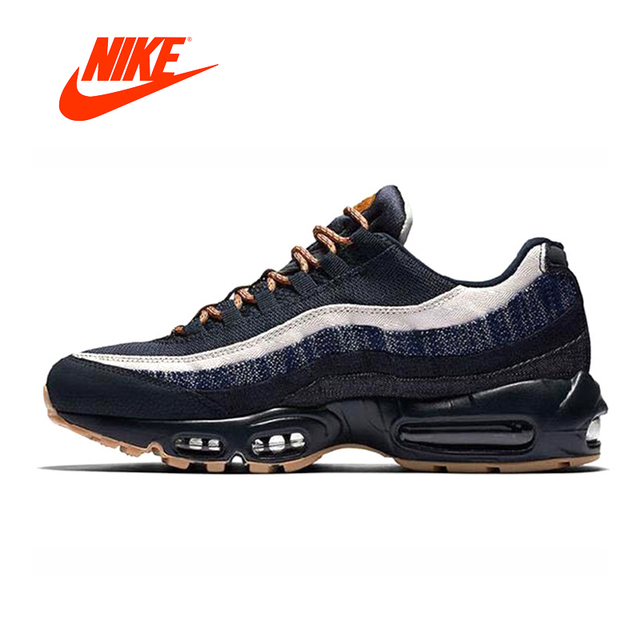 another chance 7fa15 b71d0 Original New Arrival Authentic Nike Air Max 95 Premium Men s Running Shoes  Sneakers Dark Obsidian   Granite Cider 538416-400