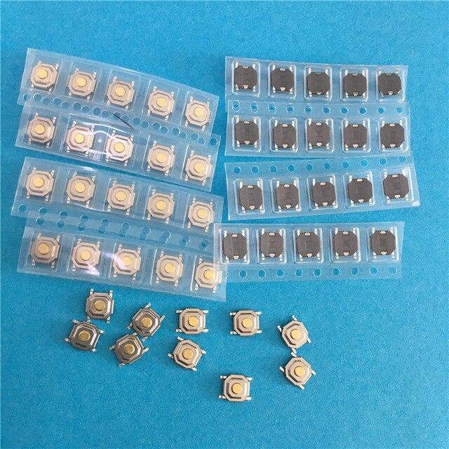 YT2006Y-interrupteur tactile lumineux | 4*4*1.5mm, bouton tactile SMD étanche sur/OFF, Micro interrupteur clés 4pin, haute qualité en vente, 50 pièces