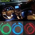 5 Pc/lote Reequipamento Lâmpada Banda de Fibra Óptica Luzes Interior do carro Atmosfera Carro Luz Ambiente console do carro porta Tira DIY Macio decorativo