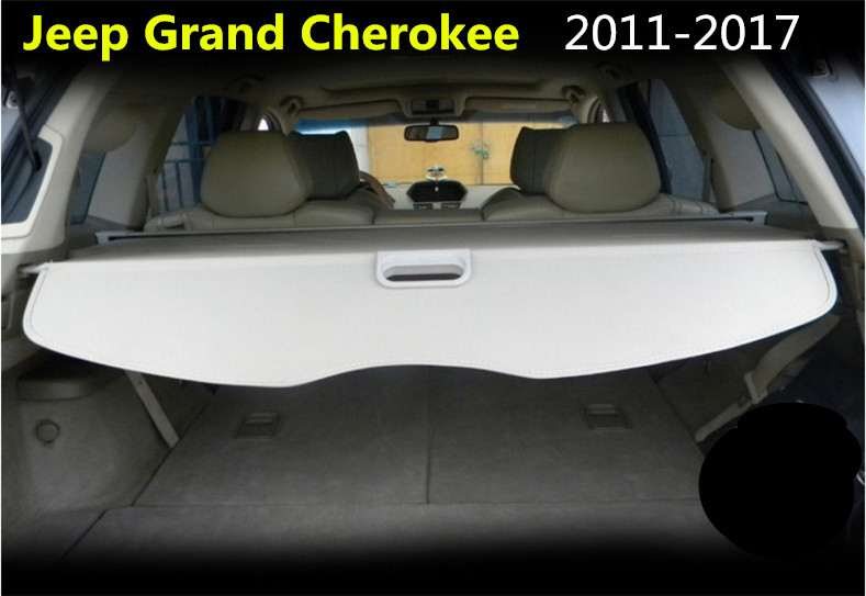 Car Rear Trunk Security Shield Cargo Cover For Jeep Grand Cherokee 2011.12.2013.2014.2015.2016.2017 High Qualit Auto Accessories car rear trunk security shield cargo cover for subaru tribeca 2006 07 08 09 10 11 2012 high qualit black beige auto accessories
