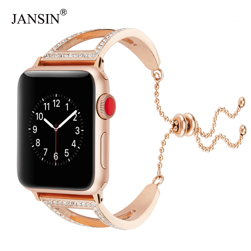 women Diamond band For Apple Watch Series 4 40mm 44mm Bracelet Stainless Steel Strap for iWatch bands 38mm/42mm Series 3 2 1women Diamond band For Apple Watch Series 4 40mm 44mm Bracelet Stainless Steel Strap for iWatch bands 38mm/42mm Series 3 2 1