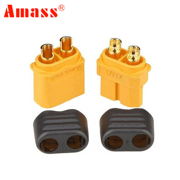 10 x Amass XT60+ Plug Connector With Sheath Housing 5 Male 5 Female (5 Pair ) 1