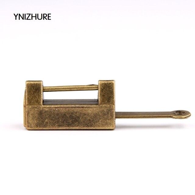 5PCS Simple retro Antique Imitation Brass Jewelry Padlock box Door