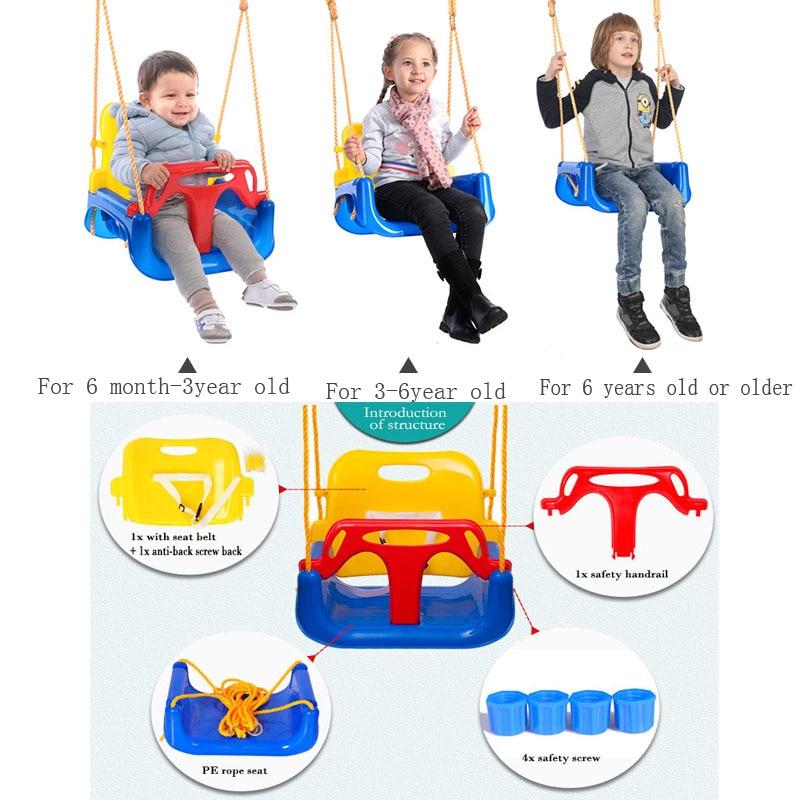 Jouets pour enfants balançoire intérieure et extérieure maison trois en un bébé chaise suspendue extérieure balançoire jouets pour enfants-in Balançoires jouets from Jeux et loisirs    1