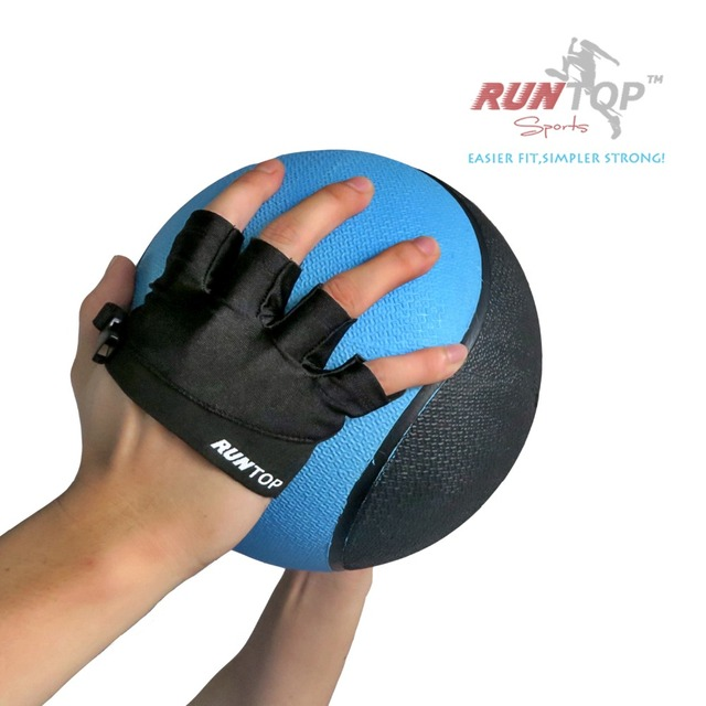 RUNTOP Silicone Crossfit Glove Women Workout Fitness GYM Exercise Weight Lifting Bodybuilding Training Hand Grips Palm Protector