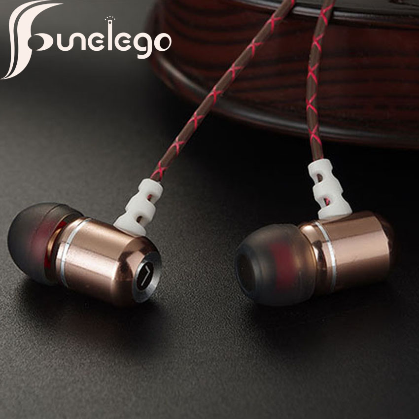 Funelego Wired Earphone DIY For Xiaomi Microphone Volume Controller In Ear Hifi Music MP3 Heavy Bass In-Ear Earphones For iPhone lc ccy 3 5mm plug mini in ear wired earphones for iphone 5 black 120cm