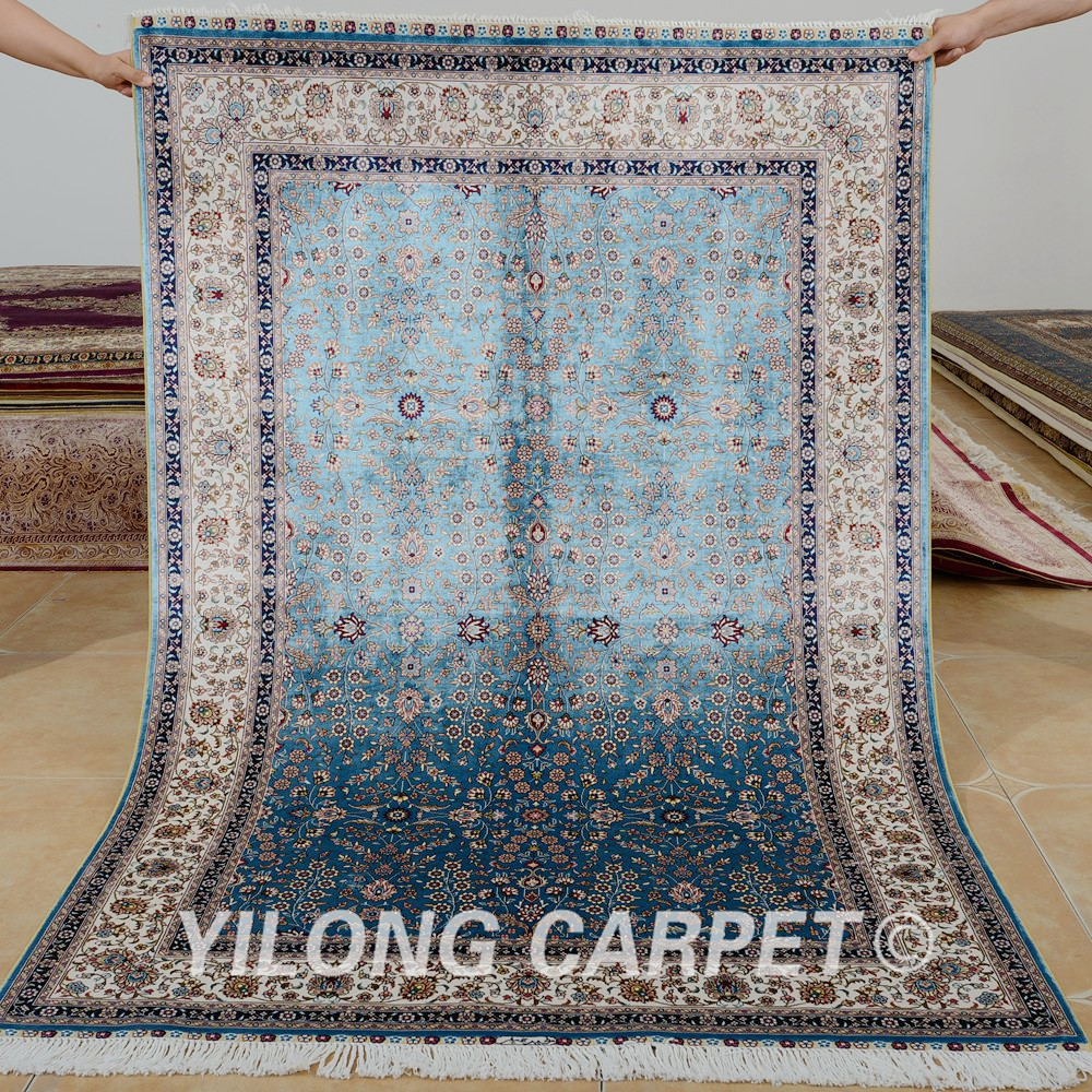 Yilong 4 X6 Hand Knotted Turkish Carpet Dark Blue Vantage Antique Handmade Area Rugs 0634 In Rug From Home Garden On Aliexpress Alibaba Group