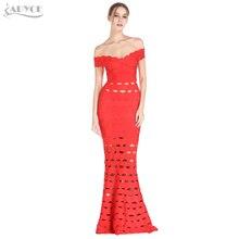Adyce новое зимнее сексуальное платье Skyblue с открытыми плечами Клубная одежда Длинные вечерние платья знаменитостей женское Макси платье Vestidos
