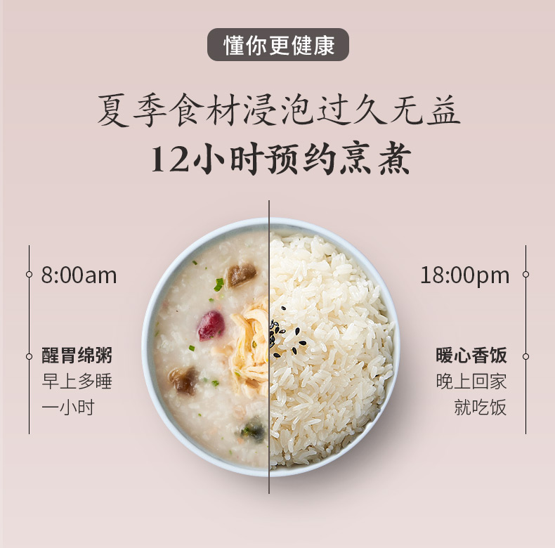 Rice Cooker 4L Household Large Capacity Multi-function Intelligent Rice Cooker Reservation 3-4-5 Person Rice Cooker Automatic 14