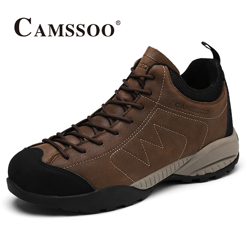 2017 Camssoo Plus Velvet Mens Hiking Shoes Breathable Climbing Sports Shoes Warmth Outdoor Shoes For Men Free Shipping 3113 2017 mens hiking shoes breathable rock climbing camping outdoor sports shoes for men army green black free shipping c101