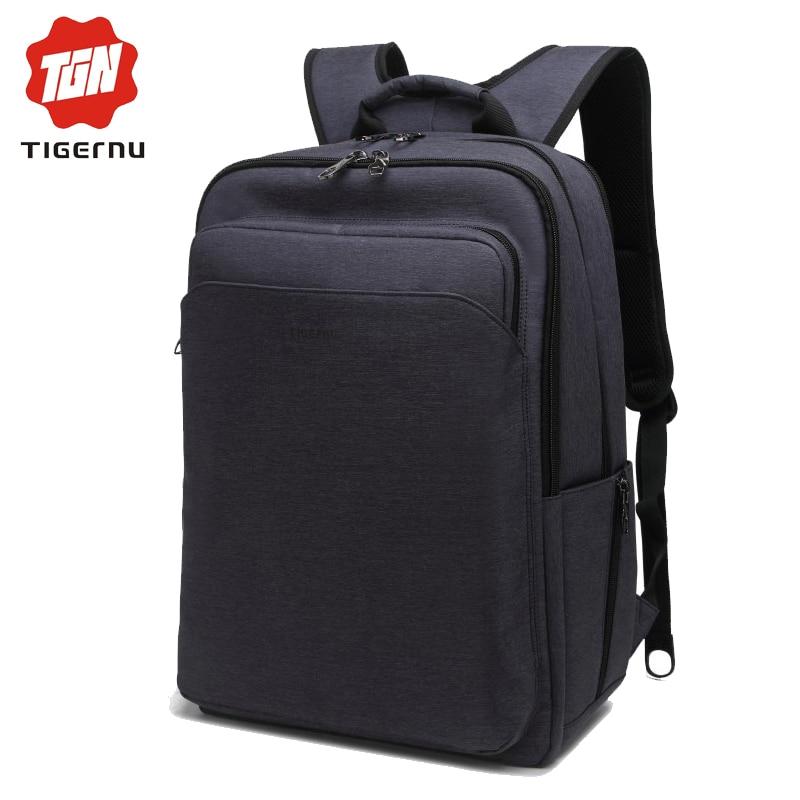 ФОТО 2017 Tigernu Notebook Bag Unisex Bag Backpack 15.6 Inch Laptop Bags for Men Waterproof Nylon Multifunction Tactical summer