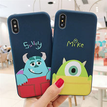 Cartoon Toy Story Sulley Mike Phone Cases For iPhone 6 S 6S 7 8 Plus X Case Silicone Soft TPU Cover Case For iPhone XS MAX XR(China)