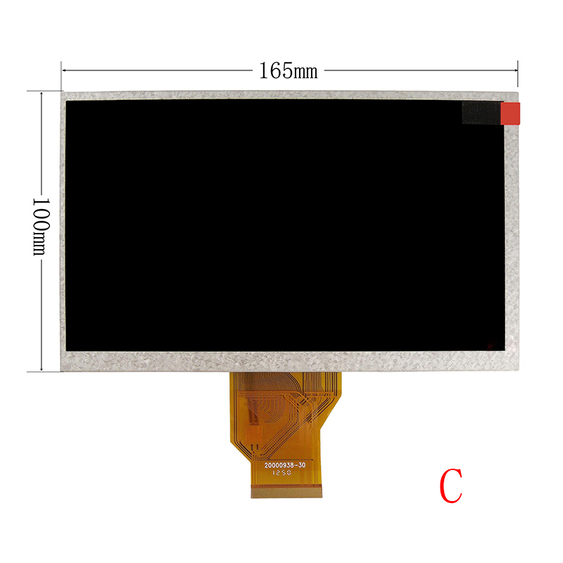 New 7 Inch Replacement LCD Display Screen For Texet TB-721HD 800*480 tablet PC Free shipping 100% new 7 9 inch lcd screen 100% newbrand new original replacement for i pad mini lp079x01 sm av lcd screen