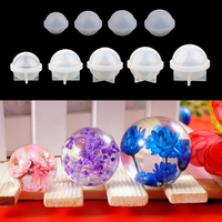 9 Sizes Mini Large Round Sphere Ball Silicone Mould Crystal Resin Casting Mold for DIY Dried Flower Ornaments Craft 20 100mm