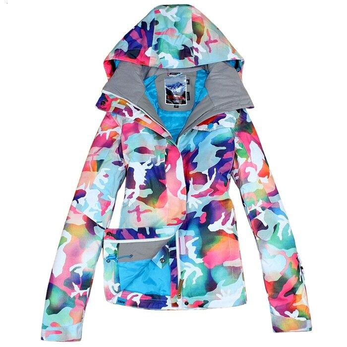 Gsou зимняя брендовая цветная лыжная куртка для сноуборда, женский лыжный костюм jas vrouwen chaqueta de snowboard de ski mujer - 6