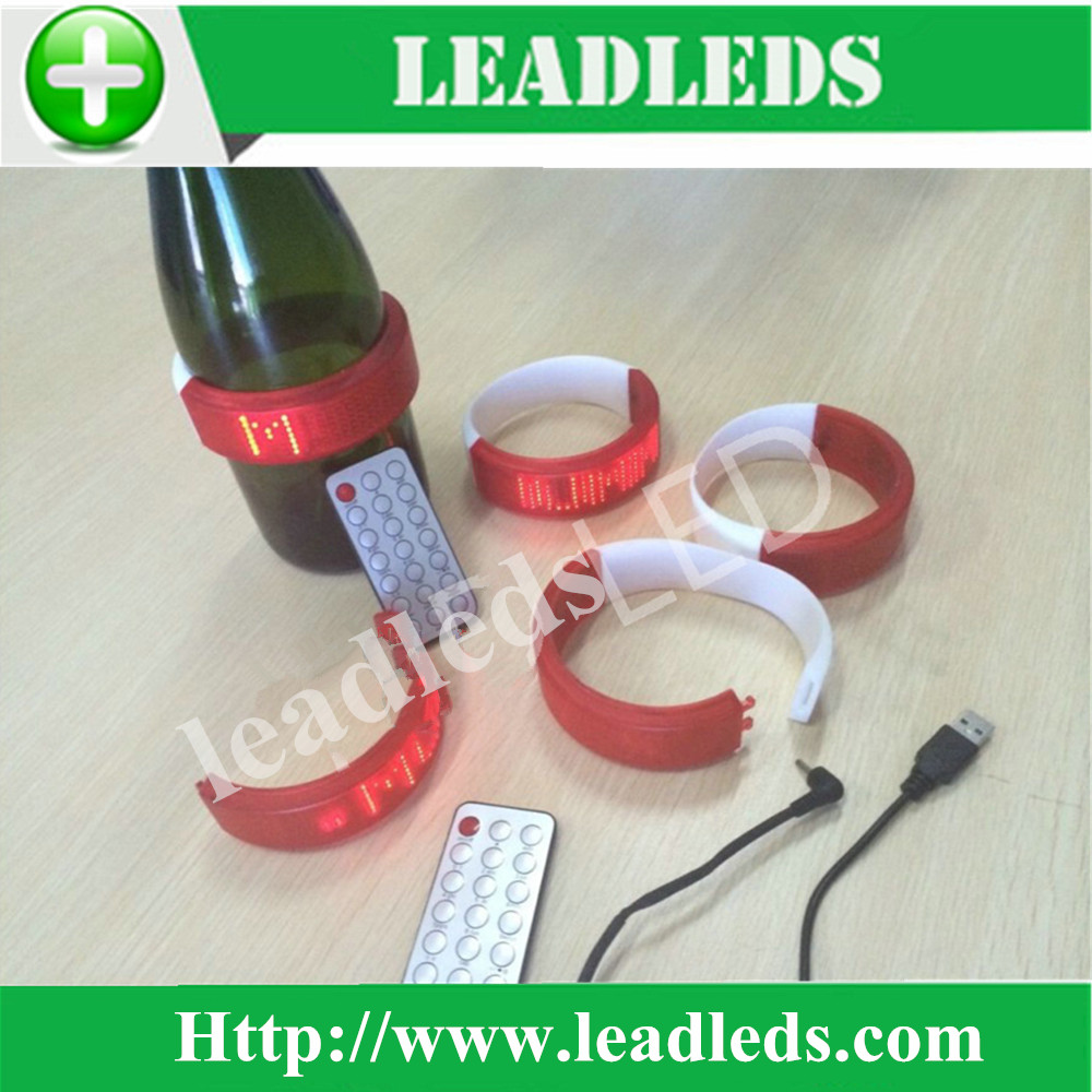 Custom soft ultra-thin LED sign LED bottle display/backpack bags bracelet gift development