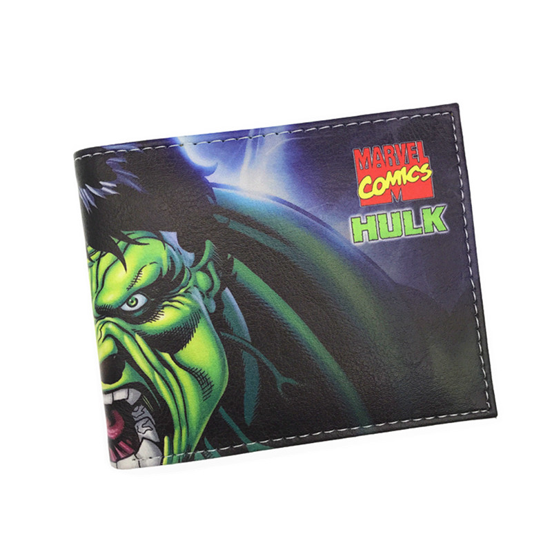 New Comics the Avengers Heros Hulk Spider Man Purse Logo Credit Oyster License Card Wallet cross ручка шариковая bailey черная цвет корпуса красный