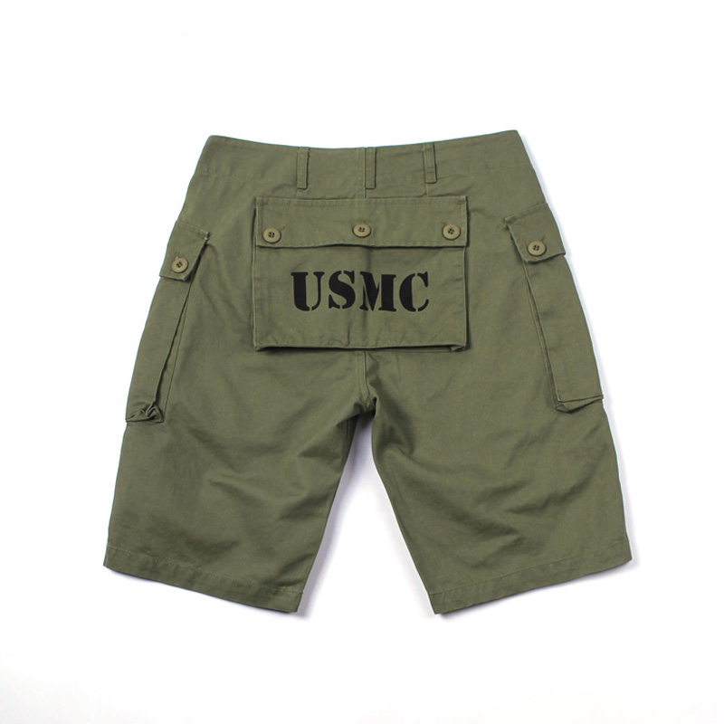 Summer Mens Multi Pockets Shorts USMC P44 Utility Cargo Shorts US Army Military Style Tactical Shorts Short Pants Overalls