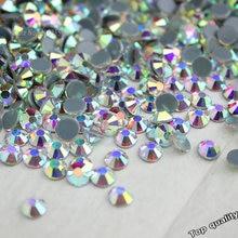 Wholesale! 14400Pcs 1440Pcs Hot Fix Rhinestone Flatback Iron On Hotfix Strass Crystal AB / Clear Fine Wedding Dress Accessories