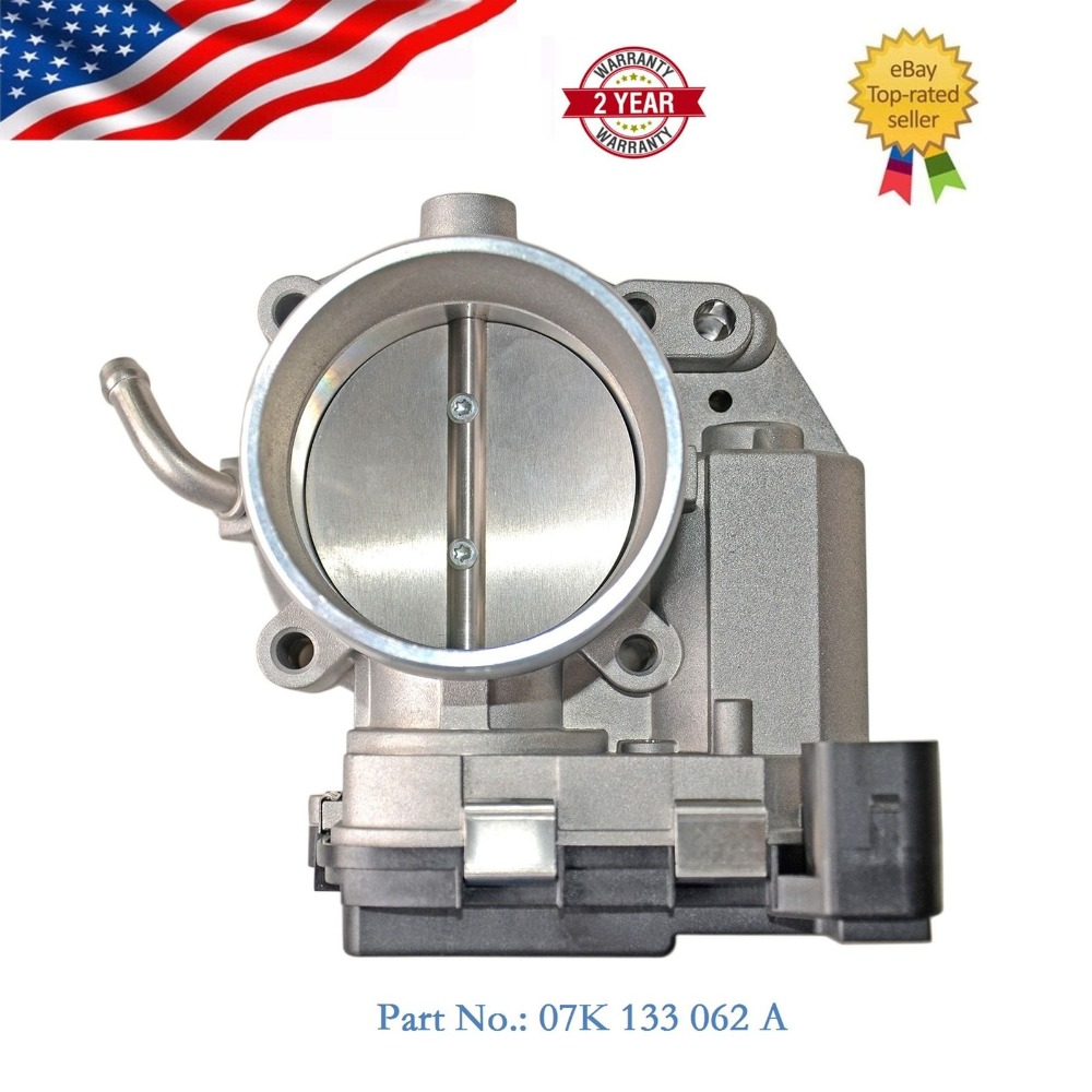 Brand New 07K133062A Throttle Body For VW Jetta Beetle Golf Passat 2.5L 2008-2014 07K 133 062 A brand new oem no 06a 133 062 c 0 280 750 036 electronic throttle body case for audi tt and vw jetta bora golf beetle