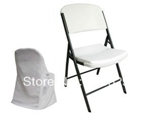folding chair covers for wedding hire plymouth free shipping polyester cover white color in from home garden on aliexpress com alibaba