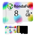 Rondaful colorful Micro SD Card 4GB Class 4 8GB-8GB C4 UHS-1 Memory Card Flash Memory Microsd for Smartphone free shiping