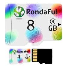 Rondaful Красочные Micro SD карта 4 ГБ класса 4, 8 GB-8GB C4 UHS-1 карты памяти флэш-памяти microsd для смартфонов Бесплатная доставка