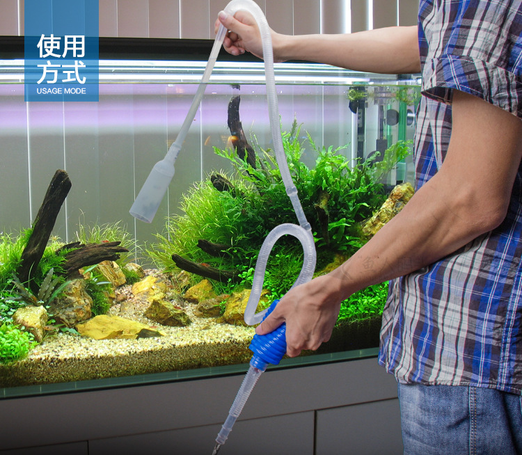 Aquarium supplies high quality fish tank water tank hand pressure cleaning tools sand washing device 1.7m