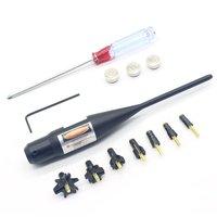 Regulowany lekki 1 mW Mocy Czerwony 635-655nm Laser Bore Próbnych Boresighter Kit do Polowań. 17-. 78 kalibru Karabiny Aluminium