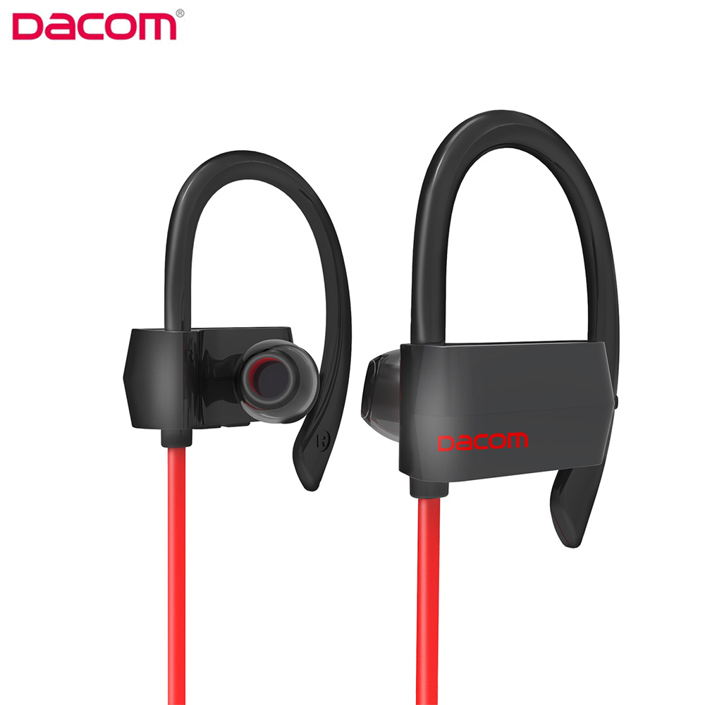 Dacom G18 Bluetooth 4.1 Running Earbuds IPX4 Waterproof Handsfree Earphone Stereo Wireless Sports Bluetooth Headset with Mic dacom gf7 bluetooth 4 1 wireless sports stereo music headset headsfree earbuds support ios android pc with mic for iphone7 7p