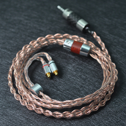 NICEHCK 2.5mm Plug MMCX Cable High Quality 7N Single Crystal Cable Earphone Upgrade Cable For LZ A6/A5 BA10 NICEHCK NK10 FR12