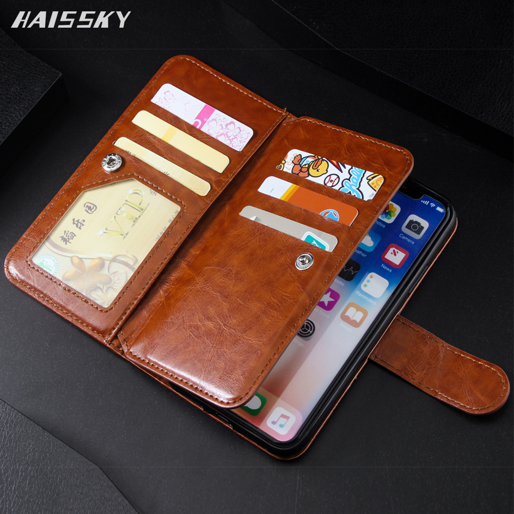 HAISSKY Case For iPhone 11 Pro Max X Xr Xs Max Leather Luxury Wallet Card Case Flip Cover Phone Case For iPhone 7 8 Plus 6 6s Plus 5 5s SE