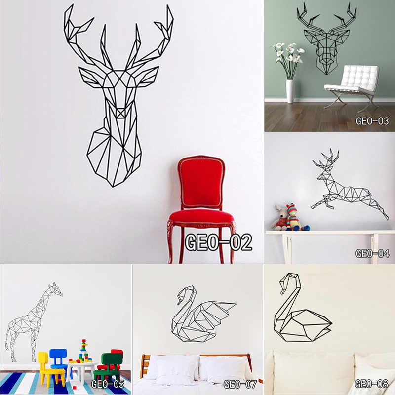 геометрические животные виниловые наклейки на стену домашний