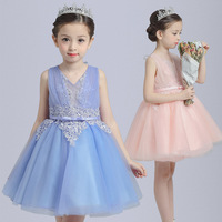 S1409 Wholesale 2017 New Fashion Children's Summer Clothes Cotton Princess Dresses Children Girl Dress