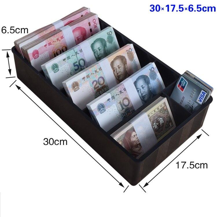 Caixa do contador do dinheiro e bandeja