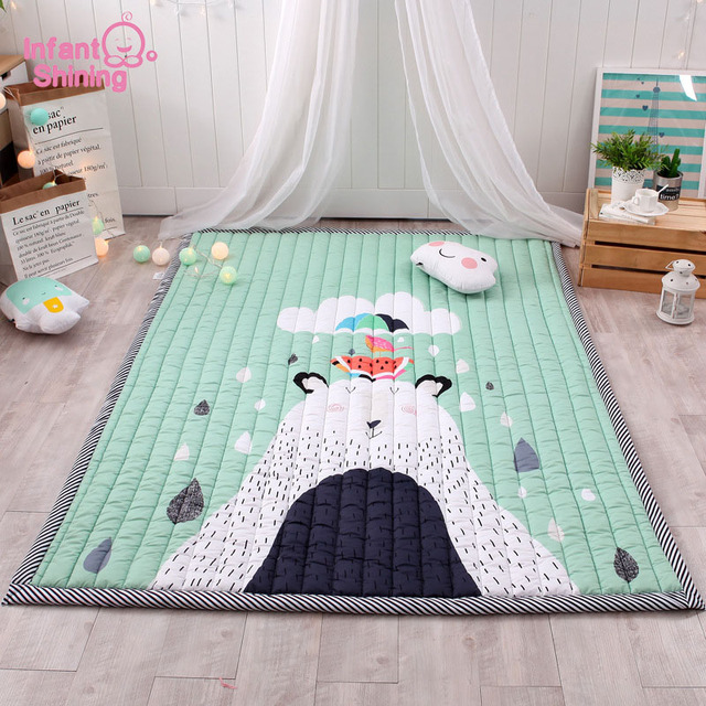 Infant Shining 140X195CM Baby Play Mats 2.5CM Thick