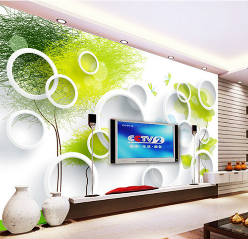 ozean tv hintergrund wand papier 3d wallpaper gr ne wandbild tapete in ozean tv hintergrund wand. Black Bedroom Furniture Sets. Home Design Ideas