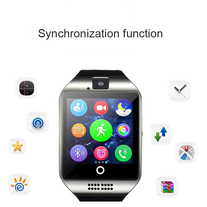 Q18 Passometer with Touch Screen Bluetooth Smart Watch