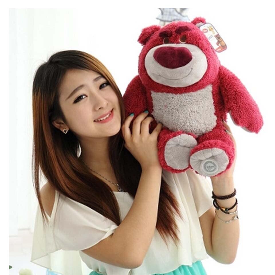 38m Cartoon Anime Toy Story 3 Buzz Lightyear Lotso Strawberry Bear Plush Toys Smell Teddy Bear Stuffed Animal Dolls Kids Gifts