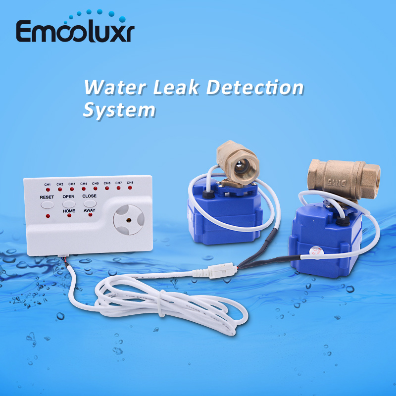 все цены на Water Leakage Sensor Alarm System with 3 Wires DN25 Electric Cranes (CR03) Brass Valves and Long Detection Water Sensor Cable