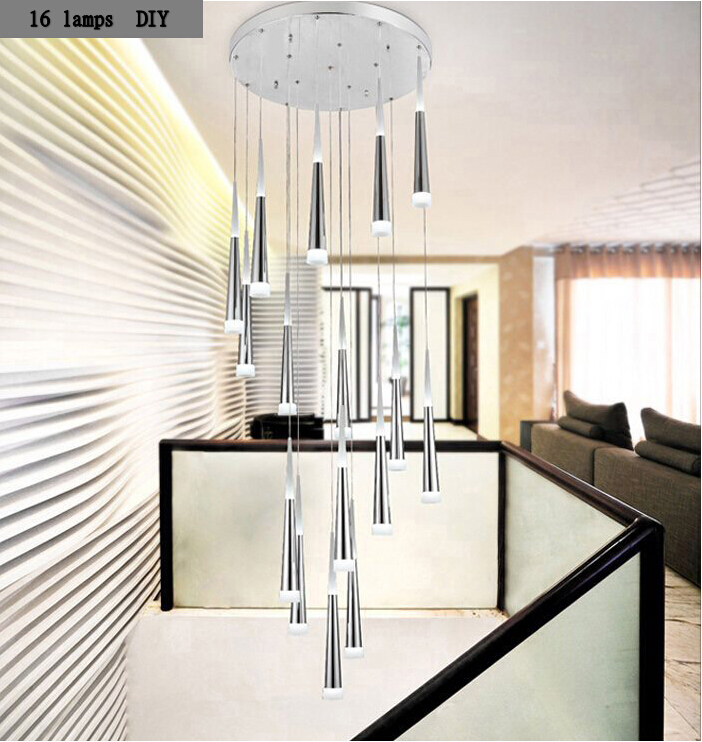 stairs light restaurant meal home lighting decoration. 916head cone tube spiral hanging light modern ceiling lights fashion luxury home restaurant stairs decoration led lampin from meal lighting a